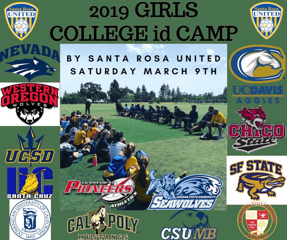 2019 Girls College ID Camp by Santa Rosa United Soccer Academy